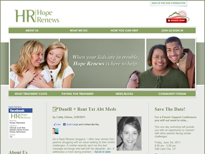 Hope Renews : home page