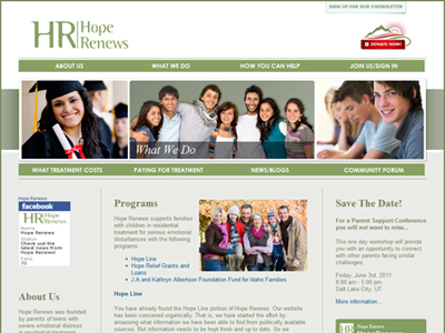 Hope Renews : news page