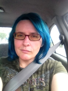 Me, with freshly blued hair