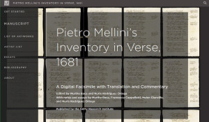 Homepage of Mellini publication