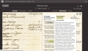 Mellini / Manuscript page comparison viewer