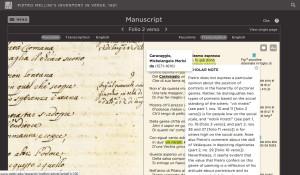 Mellini / Manuscript page comparison viewer