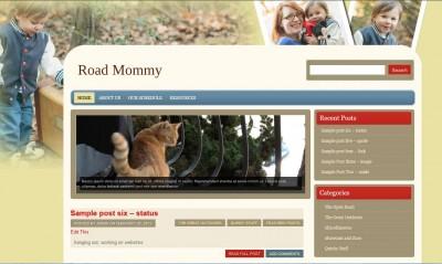 Screencap of Maya's site